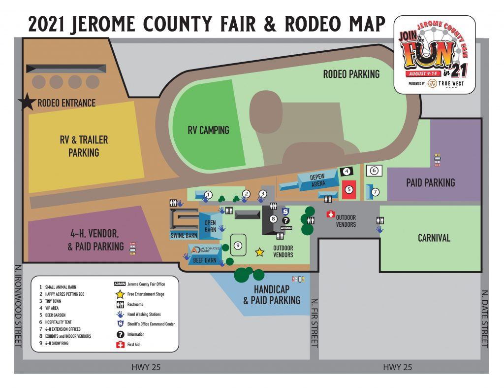 jerome county fair map